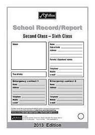 Fallons Report Cards 2nd to 6th Class