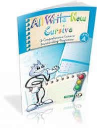 All Write Now Cursive Book A