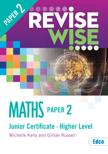 Revise Wise Junior Cert Maths Higher Level - Paper 2