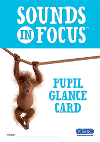 Sounds in Focus Pupil Glance Card